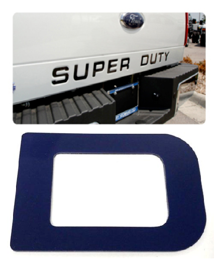 2008-2016 Ford Super Duty Tailgate Letter Inserts - Blue - Main