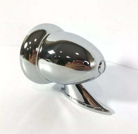 Image of Pair of Bullet Mirrors - Chrome Side Rear View GT Mirrors - Side