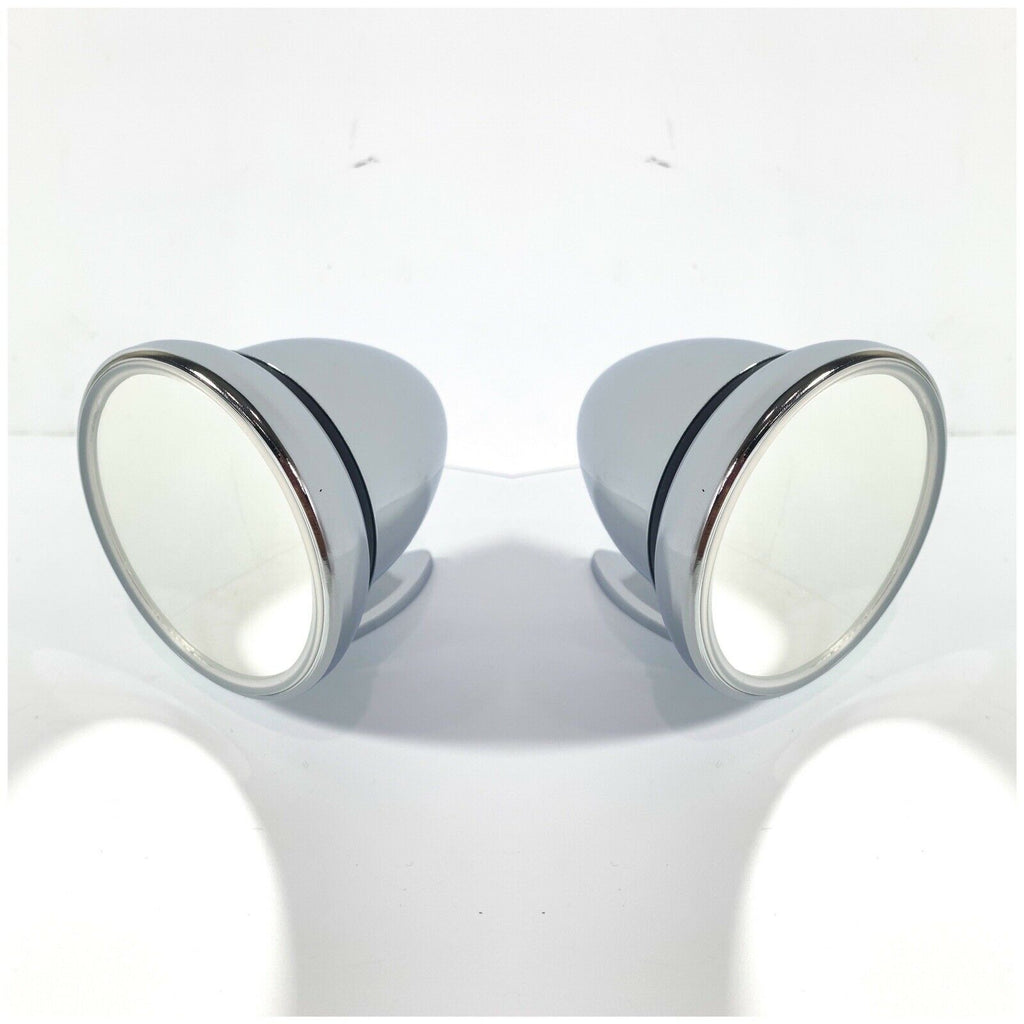 Pair of Bullet Mirrors - Chrome Side Rear View GT Mirrors - Main