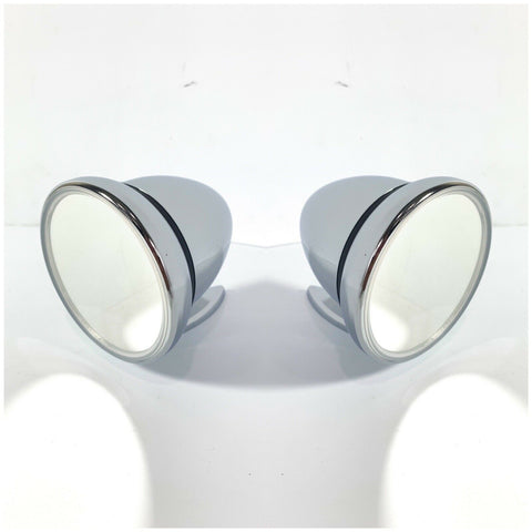 Image of Pair of Bullet Mirrors - Chrome Side Rear View GT Mirrors - Main