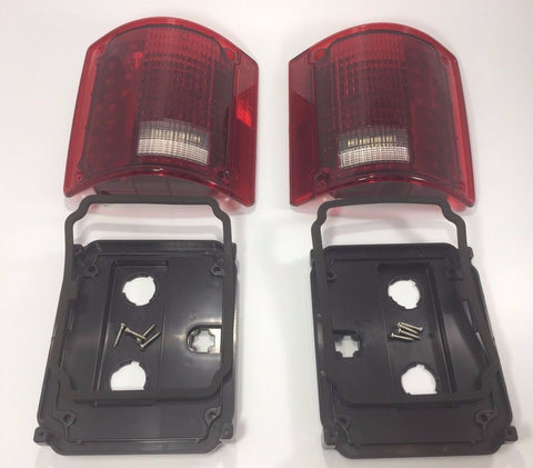 Pair 1973-87 Chevy Truck Sequential LED Tail Lights - All