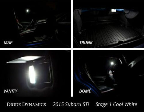Image of Bright White Interior LED Light Bulbs Kit For 2015- 2019 Subaru WRX & STI
