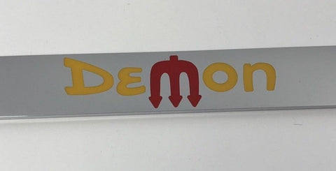 Dodge Demon License Plate Frame - Chrome with Logo (Emblem)