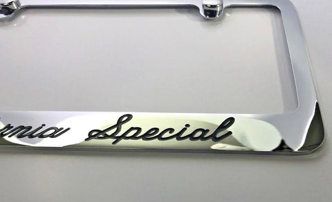 Ford Mustang California Special License Plate Frame - Chrome (Side)