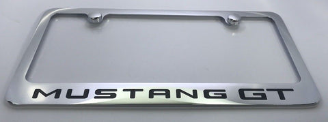Ford Mustang GT License Plate Frame - Chrome