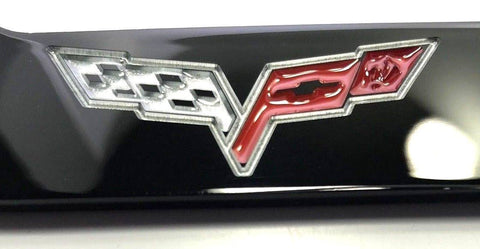 Chevrolet Corvette C6 License Plate Frame - Black (Logo)