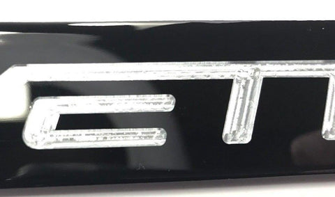 Chevrolet Corvette C6 License Plate Frame - Black (Finish)