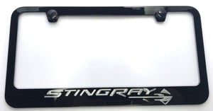 Chevrolet Corvette C7 Stingray License Plate Frame - Black (Main)