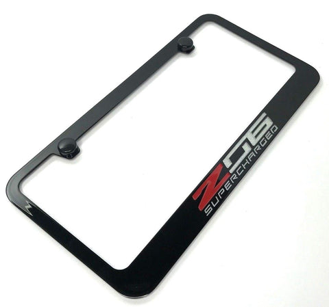 Image of Chevrolet Corvette C7 Z06 Supercharged License Plate Frame (Main)