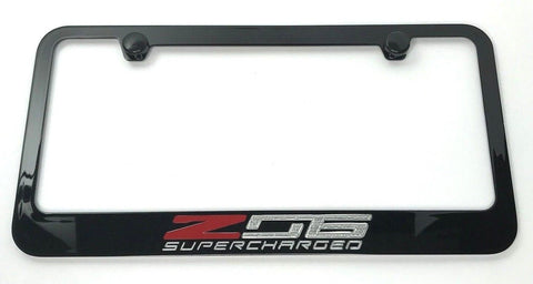 Chevrolet Corvette C7 Z06 Supercharged License Plate Frame (Front)