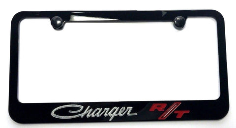 Image of Dodge Charger R/T License Plate Frame - Black (Main)