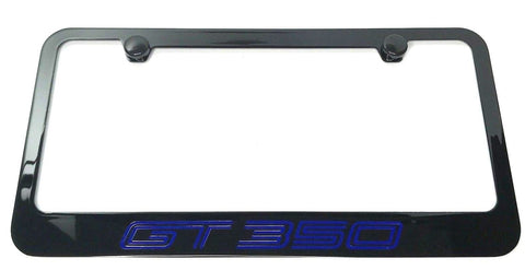 Image of Ford Shelby Mustang GT350 License Plate Frame - Black (Front)