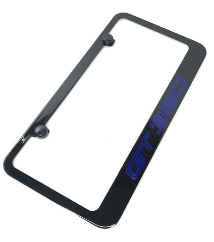 Ford Shelby Mustang GT350 License Plate Frame - Black (Side)