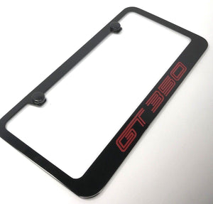 Ford Shelby Mustang GT350 License Plate Frame - Black (Main)