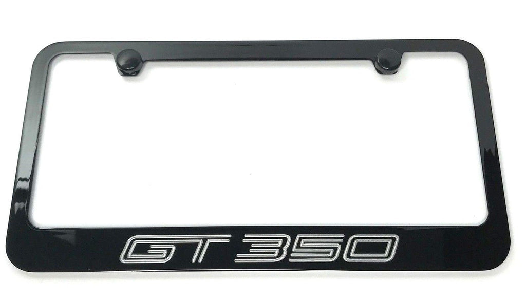 Ford Mustang GT350 License Plate Frame - Black (Front)