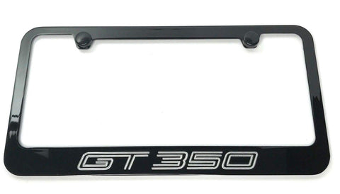 Image of Ford Mustang GT350 License Plate Frame - Black (Front)