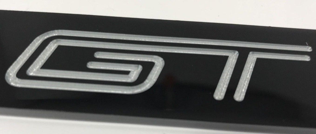 Ford Shelby Mustang GT350R License Plate Frame - Black (Logo)