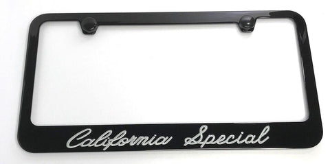 Image of Ford Mustang California Special License Plate Frame - Black (Main)