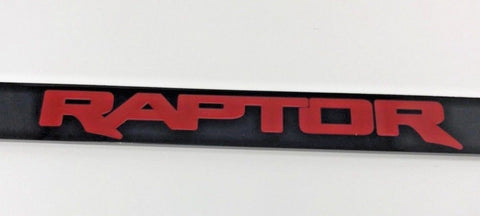 Image of Ford Raptor License Plate Frame - Black with Red Script (Front)