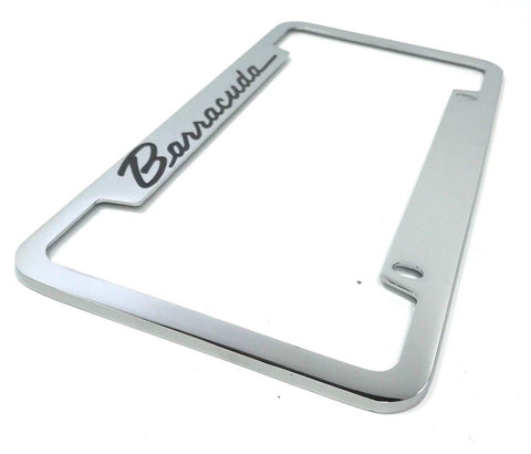 Plymouth Barracuda License Plate Frame - Chrome (Main)
