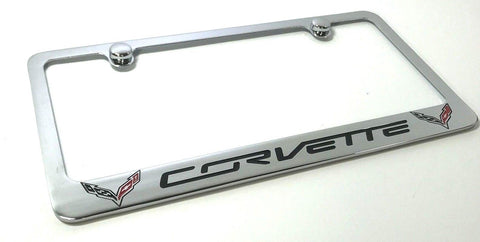 Chevrolet Corvette C7 License Plate Frame - Chrome (Front)