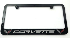 Chevrolet Corvette C7 License Plate Frame - Black (Main)