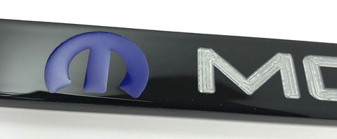 Image of Mopar License Plate Frame - Black with Blue Logo (Logo)