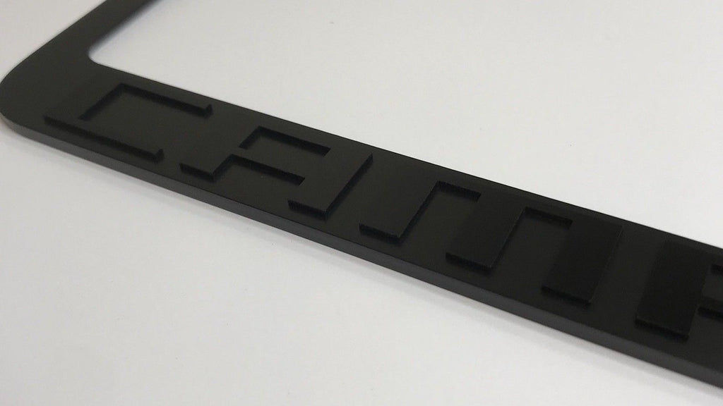 Chevrolet Camaro License Plate Frame - Black with Script (Front)