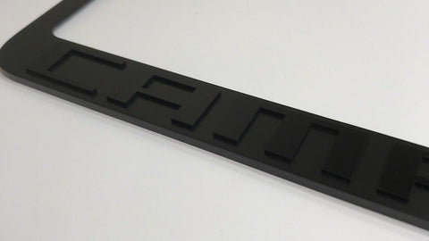 Image of Chevrolet Camaro License Plate Frame - Black with Script (Front)