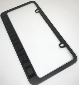 Chevrolet Camaro License Plate Frame - Black with Script (Main)