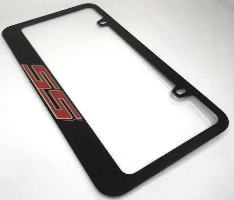 Chevrolet SS License Plate Frame - Black with Red Script (Main)