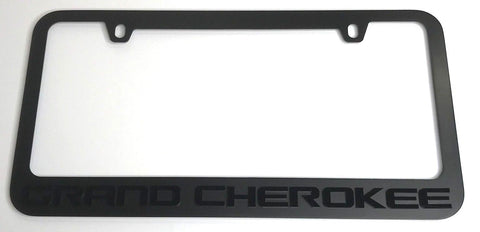 Image of Jeep Grand Cherokee License Plate Frame - Black (Front)