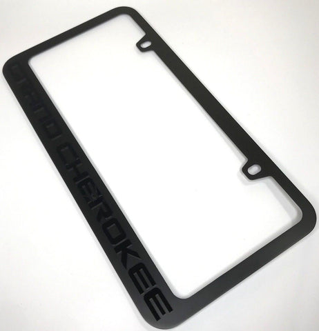 Image of Jeep Grand Cherokee License Plate Frame - Black (Main)
