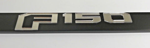 Image of Ford F-150 License Plate Frame - Black with Chrome Script (Front)
