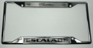 Cadillac Escalade License Plate Frame - Chrome with Logo (Main)