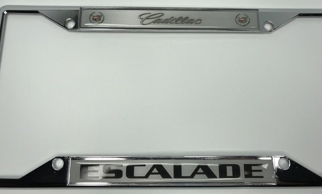 Cadillac Escalade Metal License Plate Frame – R&W Speed Shop