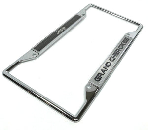 Jeep Grand Cherokee License Plate Frame - Chrome (Main)