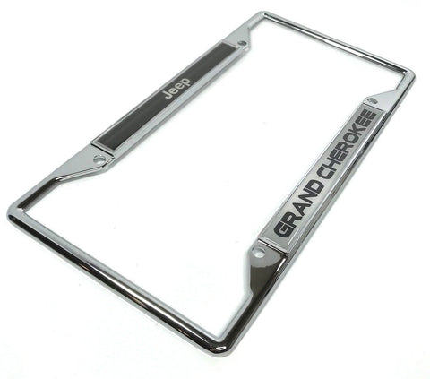 Image of Jeep Grand Cherokee License Plate Frame - Chrome (Main)