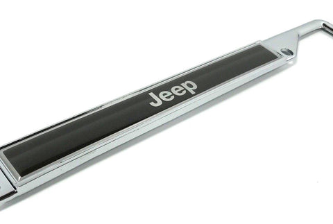 Image of Jeep Grand Cherokee License Plate Frame - Chrome (Top)