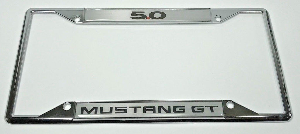 Ford Mustang 5.0 GT License Plate Frame - Chrome (Main)