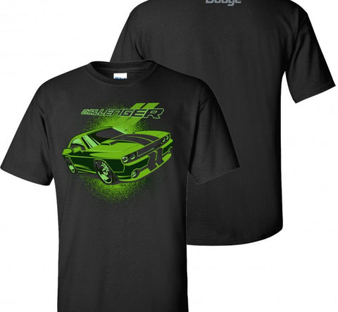 Dodge Challenger T-Shirt Lime - Live Fast Supply Company