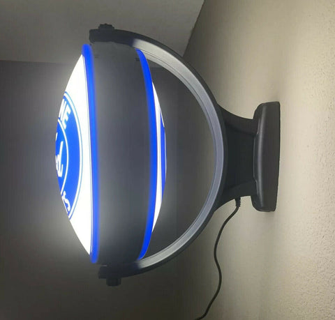 Image of Ford Emblem Genuine Parts Sign - Light Up Revolving Globe-Live Fast Supply Company