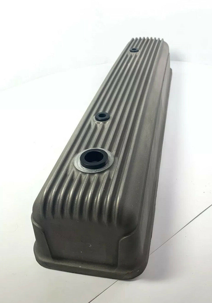 Finned Aluminum Tall Valve Cover for Chevy 216 & 235 - Unpolished Show Quality-Live Fast Supply Company