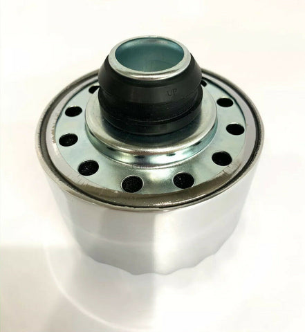 "Finned Aluminum Round Push In Valve Cover Breather, 1"" Neck for 1-1/4"" Hole"