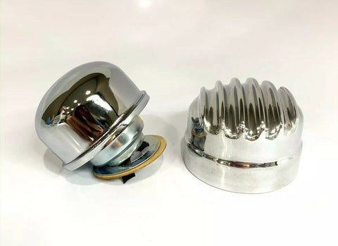 Finned Aluminum Round Twist On Valve Cover Breather-Live Fast Supply Company