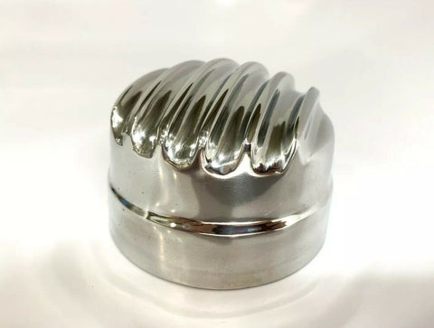 Finned Aluminum Round Twist On Valve Cover Breather