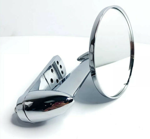 Image of Chrome Exterior Rearview Side Mirror For 1953-1966 Ford Pickup Trucks-Live Fast Supply Company