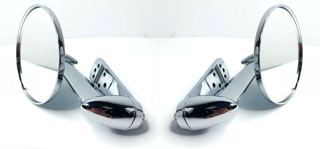 Chrome Exterior Rearview Side Mirror For 1953-1966 Ford Pickup Trucks-Live Fast Supply Company