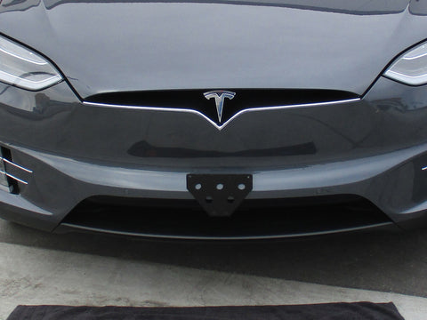 Image of Removable License Plate Bracket for 2016-2019 Tesla Model X - Installed