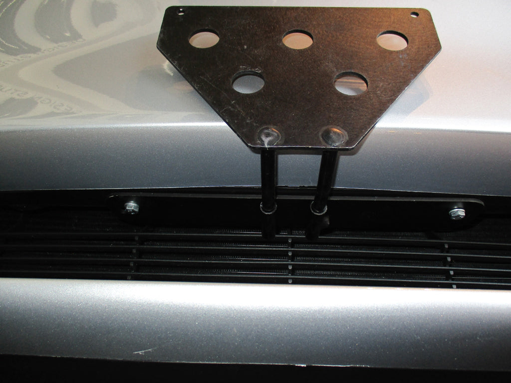 Removable, No Drill License Plate Bracket for 2016-2019 Tesla Model S - Installed